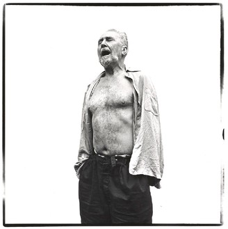 Richard Avedon, Ezra Pound, poet, at the home of William Carlos Williams, Rutherford, New Jersey, June 30, 1958, 1958 © The Richard Avedon Foundation