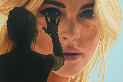 Richard Phillips, Lindsay III, 2012 Oil on linen, 96 × 144 ½ inches (243.8 × 367 cm)© Richard Phillips