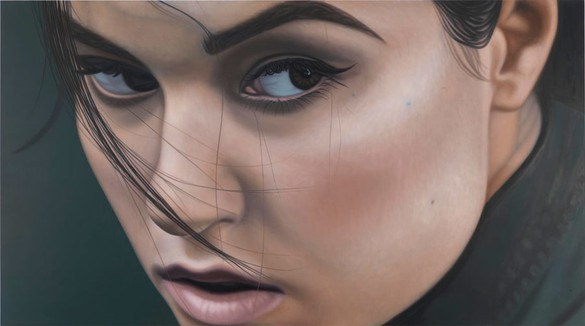Richard Phillips, Sasha II, 2012 Oil on canvas, 84 × 150 ⅜ inches (213.4 × 382 cm)© Richard Phillips