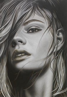 Richard Phillips, To be titled, 2017 Oil on linen, 40 × 28 inches (101.6 × 71.1 cm)© Richard Phillips