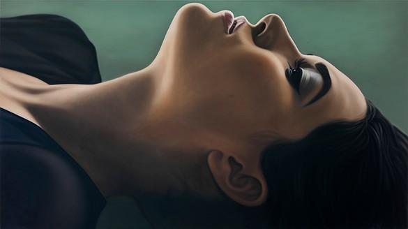 Richard Phillips, Sasha III, 2012 Oil on canvas, 84 × 149 ½ inches (213.4 × 379.7 cm)© Richard Phillips, photo by Rob McKeever