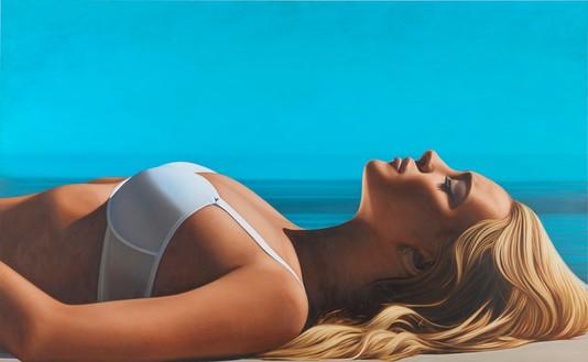 Richard Phillips, Lindsay II, 2012 Oil on canvas, 92 × 149 ¼ inches (233.7 × 379.1 cm)© Richard Phillips
