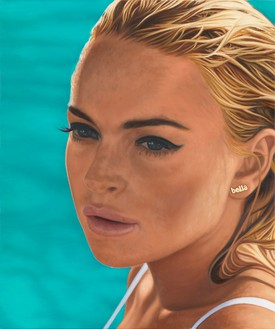 Richard Phillips, Lindsay I, 2012 Oil on canvas, 48 × 40 inches (121.9 × 101.6 cm)© Richard Phillips