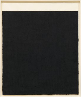 Richard Serra, Elevational Weights, Black Matter, 2010 Paintstick on handmade paper, 81 ¾ × 68 ¼ inches (207.6 × 173.4 cm)© 2018 Richard Serra/Artists Rights Society (ARS), New York. Photo: Rob McKeever