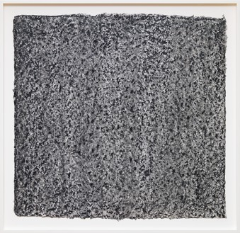 Richard Serra, Ramble 4–26, 2015 Litho crayon and pastel powder on paper, 35 ½ × 36 ¾ inches (90.2 × 93.3 cm)© 2018 Richard Serra/Artists Rights Society (ARS), New York. Photo: Rob McKeever