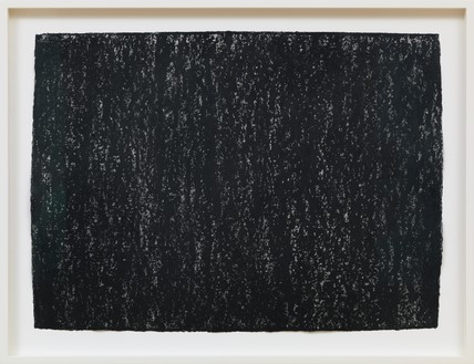 Richard Serra, Ramble 3-6, 2015 Litho crayon on paper, 22 × 30 inches (55.9 × 76.2 cm)© 2018 Richard Serra/Artists Rights Society (ARS), New York. Photo: Rob McKeever