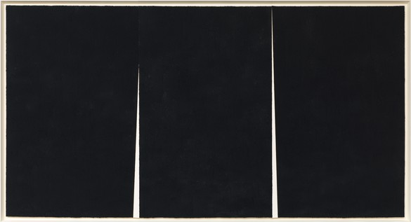 Richard Serra, Double Rift #5, 2012 Paintstick on handmade paper, 114 × 211 ½ inches (289.6 × 537.2 cm)© 2018 Richard Serra/Artists Rights Society (ARS), New York. Photo: Rob McKeever