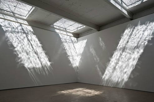 RICHARD WRIGHT No title, 2014 Handmade leaded glass Installation at The Modern Institute, Glasgow, UK