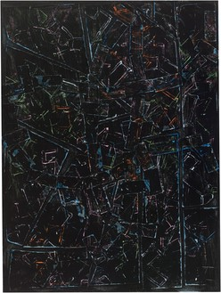 Rick Lowe, Untitled, 2021 Acrylic and paper collage on canvas, 40 × 30 inches (101.6 × 76.2 cm)© Rick Lowe Studio