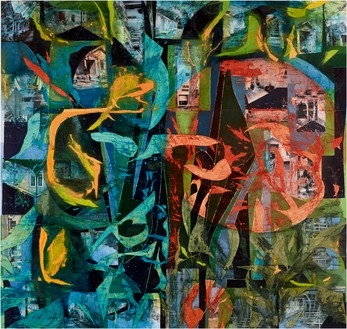 Rick Lowe, Untitled, 2020 Acrylic and paper collage on paper, 144 × 144 inches (365.8 × 365.8 cm)© Rick Lowe Studio