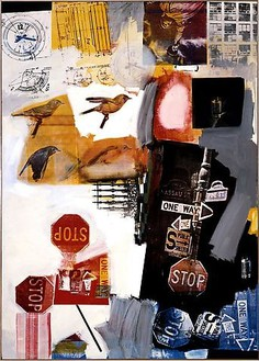 Robert Rauschenberg, Overdrive, 1963 Oil and silkscreen ink on canvas, 84 × 60 inches (213.4 × 152.4 cm)