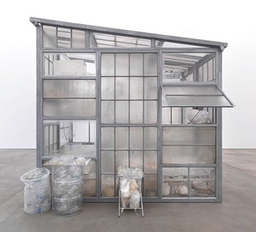 Robert Therrien, No title (transparent room), 2010 Steel, glass, plastic, 145 × 108 × 156 inches (369.6 × 274.3 × 396.2 cm)