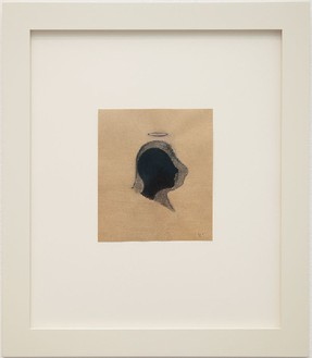 Robert Therrien, No title (head with halo, 2017 Copy pencil, graphite and ink on paper, 7 ⅛ × 6 ¼ inches (18.1 × 15.9 cm)© Robert Therrien