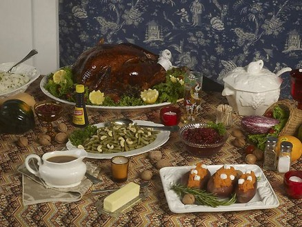 Roe Ethridge, Thanksgiving 1984 (table), 2009 Chromogenic print, 33 × 42 inches (83.8 × 106.7cm), edition of 5