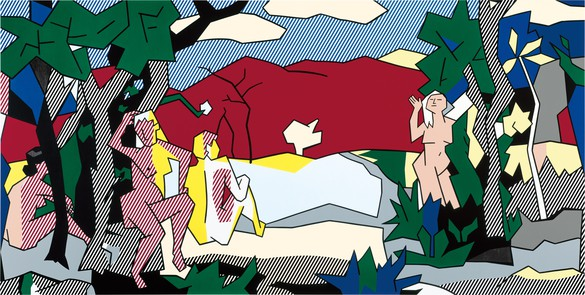 Roy Lichtenstein, The White Tree, 1980 Oil and Magna on canvas, 105 × 210 inches (266.7 × 533.4 cm)© Estate of Roy Lichtenstein