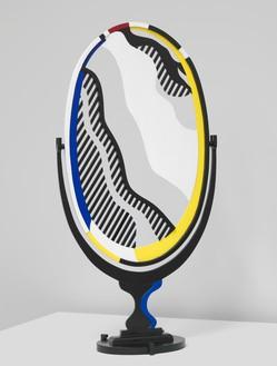 Roy Lichtenstein, Mirror II (maquette), 1977 Painted wood, 59 ¾ × 30 × 12 inches (151.8 × 76.2 × 30.5 cm)© Estate of Roy Lichtenstein