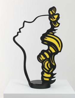 Roy Lichtenstein, Profile Head, 1988 Painted and patinated bronze, 36 ⅝ × 22 ½ × 9 ½ inches (93 × 57.2 × 24.1 cm), edition of 6© Estate of Roy Lichtenstein