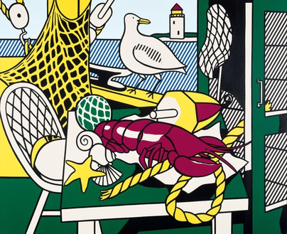 Roy Lichtenstein, Cape Cod Still Life II, 1973 Oil and Magna on canvas, 60 × 74 inches (152.4 × 188 cm)© Estate of Roy Lichtenstein