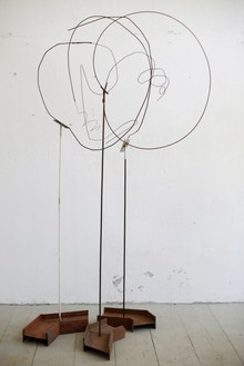 Rudolf Polanszky, Wire Object, 2017 Iron wire on metal stands, in 3 parts, dimensions variable© Rudolf Polanszky