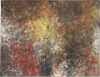 Rudolf Polanszky, Coil Spring Painting, 1985 Acrylic on canvas, in artist's frame, 89 ¼ × 115 inches (226.5 × 292 cm)© Rudolf Polanszky