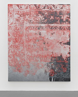 Rudolf Stingel, Untitled, 2015 Oil and enamel on canvas, 95 × 76 inches (241.3 × 193 cm)© Rudolf Stingel