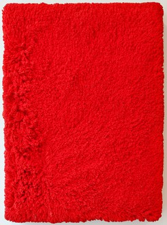 Rudolf Stingel, Untitled, 1994 Pigmented cast polyurethane rubber compound, 13 ⅜ × 10 ¼ × 1 ⅝ inches (34 × 26 × 4 cm)© Rudolf Stingel