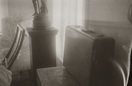Sally Mann, Remembered Light, Untitled (Suitcase), 2011–2012 Platinum print, 9 × 14 inches (22.9 × 35.6 cm), edition of 3© Sally Mann