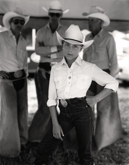 Sally Mann, Jennifer at the Rodeo, 1984 Gelatin silver print, 10 × 8 inches (25.4 × 20.3 cm), edition of 25© Sally Mann