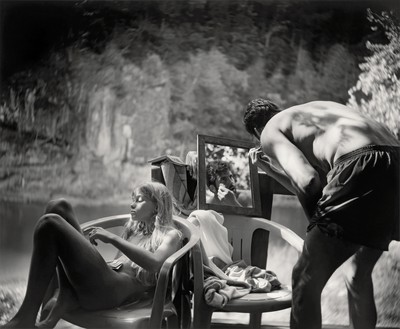 Sally Mann, Larry Shaving, 1991 Gelatin silver print, 20 × 24 inches (50.8 × 61 cm), edition of 25© Sally Mann