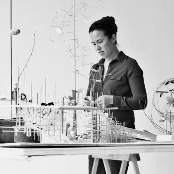 A portrait photograph of Sarah Sze