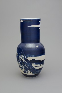 Shio Kusaka, (landscape 1), 2014 Stoneware, 28 × 14 ¼ × 14 ¼ inches (71.1 × 36.2 × 36.2 cm)© Shio Kusaka, photo by Brian Forrest