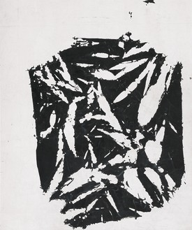 Simon Hantaï, Laissée, 1981–84 Acrylic on canvas, 87 ⅜ × 72 ⅞ inches (222 × 185 cm)© Archives Simon Hantaï/ADAGP, Paris