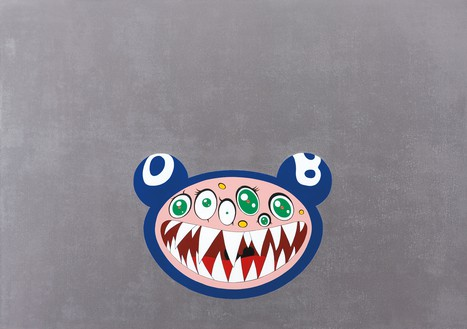 Takashi Murakami, DOB's March, 1995 Acrylic on canvas mounted on board, 27 ⅝ × 39 ⅜ inches (70.1 × 100 cm)© Takashi Murakami/Kaikai Kiki Co., Ltd. All rights reserved
