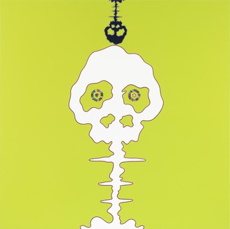 Takashi Murakami, TIME – lime green – BOKAN, 2009 Acrylic on canvas mounted on aluminum frame, 71 × 71 inches (180.3 × 180.3 cm)© Takashi Murakami/Kaikai Kiki Co., Ltd. All rights reserved