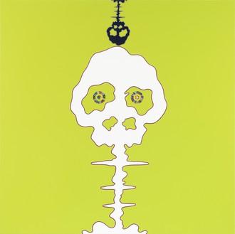 Takashi Murakami, TIME – lime green – BOKAN, 2009 Acrylic on canvas mounted on aluminum frame, 71 × 71 inches (180.3 × 180.3 cm)© Takashi Murakami/Kaikai Kiki Co., Ltd. All rights reserved