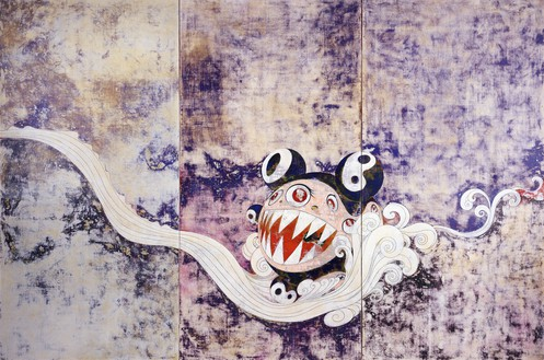 Takashi Murakami, 727, 1996 Acrylic on canvas mounted on board, 9 feet 10 inches × 14 feet 9 inches (3 × 4.5 m), Museum of Modern Art, New York© Takashi Murakami/Kaikai Kiki Co., Ltd. All rights reserved