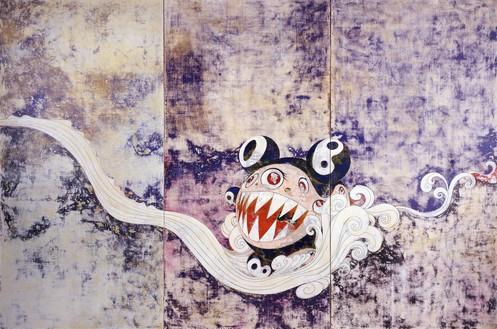 Takashi Murakami, 727, 1996 Acrylic on canvas mounted on board, 9 feet 10 inches × 14 feet 9 inches (3 × 4.5 m), Museum of Modern Art, New York© Takashi Murakami/Kaikai Kiki Co., Ltd. All rights reserved
