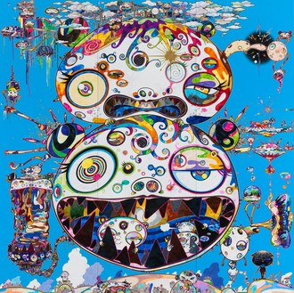 Takashi Murakami, Tan Tan Bo - In Communication, 2014 Acrylic on canvas, 141 ¾ × 141 ¾ inches (360 × 360 cm)© Takashi Murakami/Kaikai Kiki Co., Ltd. All rights reserved
