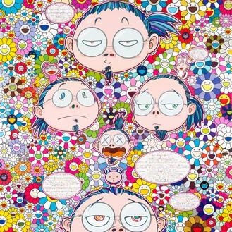 Takashi Murakami, Self-Portrait of the Manifold Worries of a Manifoldly Distressed Artist, 2012 Acrylic on canvas mounted on board, 59 × 59 inches (150 × 150 cm)© Takashi Murakami/Kaikai Kiki Co., Ltd. All rights reserved
