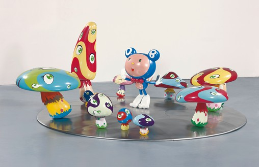 Takashi Murakami, DOB in the Strange Forest, 1999 FRP, resin, fiberglass, acrylic, and iron, 60 × 144 inches (152.4 × 365.8 cm)© Takashi Murakami/Kaikai Kiki Co., Ltd. All rights reserved