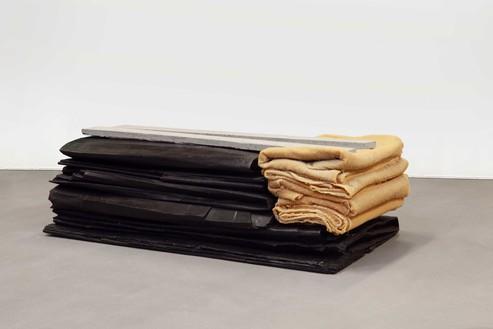 Tatiana Trouvé, Refolding, 2013 Patinated bronze, wax, and concrete, 15 ¾ × 47 ⅞ × 26 inches (40 × 121.5 × 66 cm), edition of 3© Tatiana Trouvé. Photo: Laurent Edeline