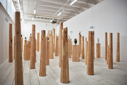 Theaster Gates, So Bitter, This Curse of Darkness, 2019 Installation view, Palais de Tokyo, Paris, 2019© Theaster Gates. Photo: Chris Strong