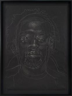 Titus Kaphar, The Jerome Project (Asphalt and Chalk) V, 2014 Graphite on asphalt paper, 49 × 35 ½ inches (124.5 × 90.2 cm), Museum of Modern Art, New York© Titus Kaphar. Photo: Jeremy Lawson