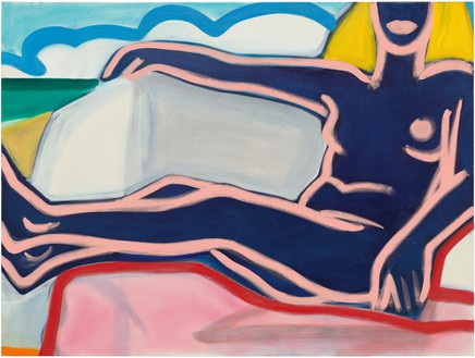 Tom Wesselmann, Nude Drawing 4/14/2000, 2000 Oil on canvas, 48 × 64 inches (121.9 × 162.6 cm)© The Estate of Tom Wesselmann/Licensed by VAGA, New York