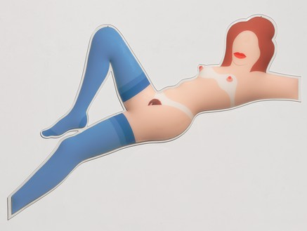 Tom Wesselmann, Great American Nude #82, 1966 Molded and painted Plexiglas, 54 × 79 × 3 inches (137.2 × 200.7 × 7.6 cm, 1 of 5 unique color variations© The Estate of Tom Wesselmann/Licensed by ARS/VAGA, New York