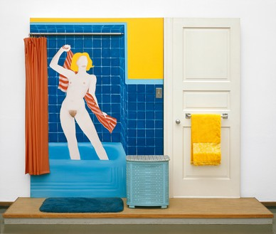 Tom Wesselmann, Bathtub Collage #3, 1963 Mixed media, collage, and assemblage on board, 84 × 106 ¼ × 20 inches (213.4 × 269.9 × 50.8 cm), Museum Ludwig, Cologne© The Estate of Tom Wesselmann/Licensed by ARS/VAGA, New York