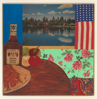 Tom Wesselmann, Still Life #3, 1962 Mixed media and collage on board, 30 × 30 inches (76.2 × 76.2 cm)© The Estate of Tom Wesselmann/Licensed by VAGA, New York