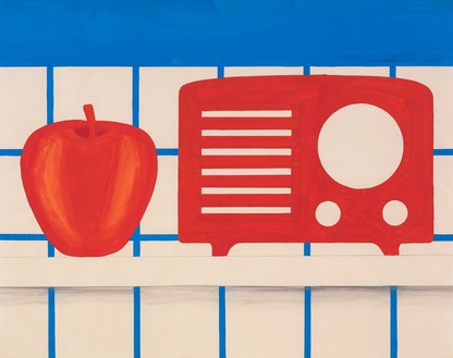 Tom Wesselmann, Study for Still Life #46, 1964 Pencil and liquitex on paper, 42 × 53 inches (106.7 × 134.6 cm)© The Estate of Tom Wesselmann/Licensed by VAGA, New York