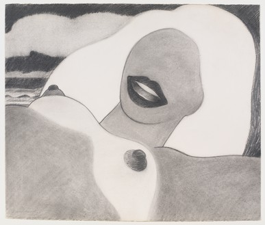 Tom Wesselmann, Drawing for Great American Nude #73, 1965 Pencil on rag paper, 23 × 27 inches (58.4 × 68.6 cm)© The Estate of Tom Wesselmann/Licensed by VAGA, New York