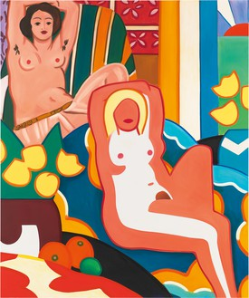 Tom Wesselmann, Sunset Nude with Matisse Odalisque, 2003 Oil on canvas, 120 × 100 inches (304.8 × 254 cm)© The Estate of Tom Wesselmann/Licensed by VAGA, New York